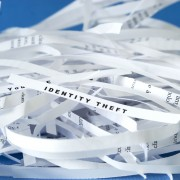Shredded identity theft paper