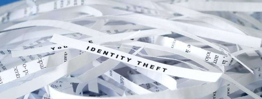 Shredded identity theft paper